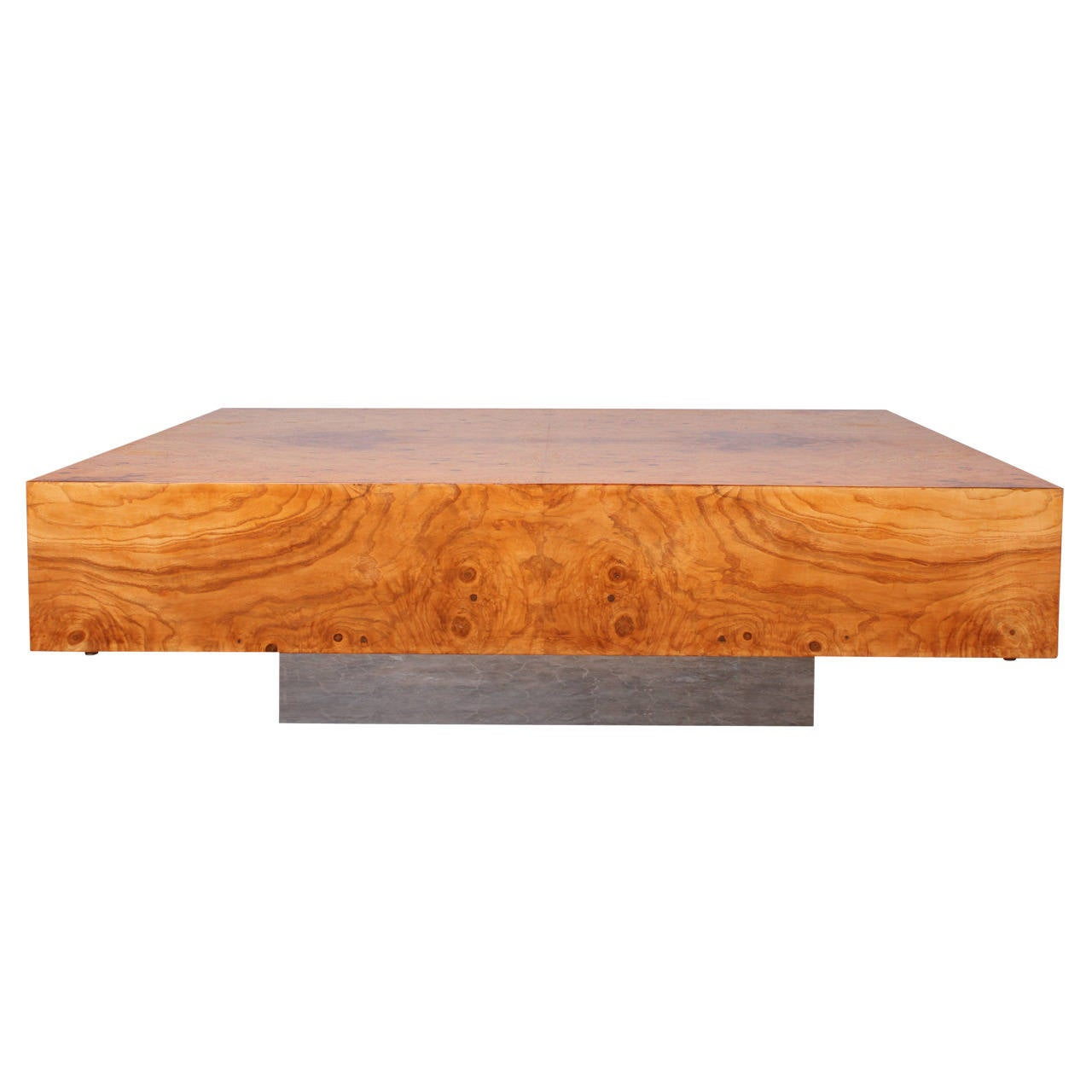 Large Burl Coffee Table By Milo Baughman For Thayer Coggin At 1stdibs