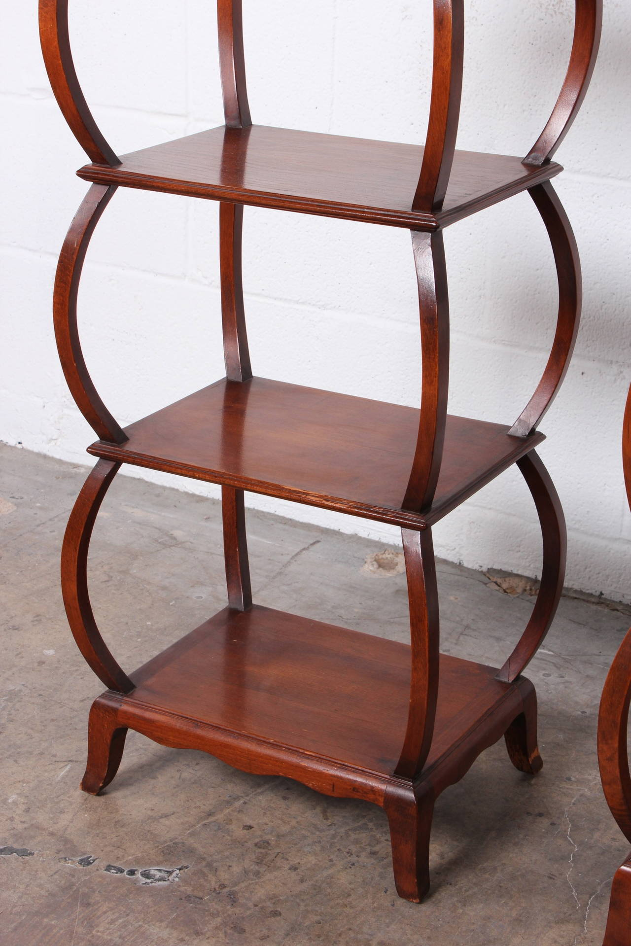 Early Pair of Étagères by Edward Wormley for Dunbar For Sale 2