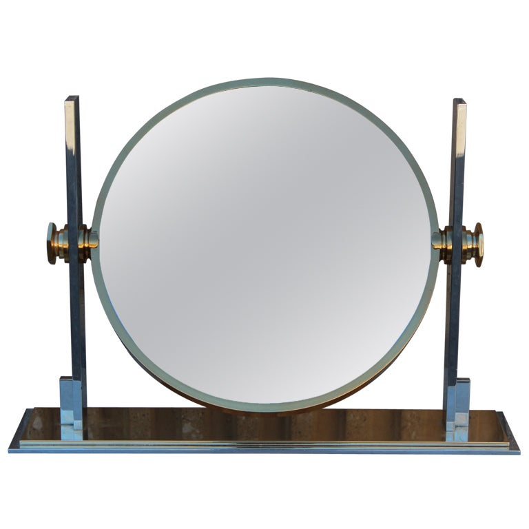 Large Table Top Mirror By Karl Springer 1