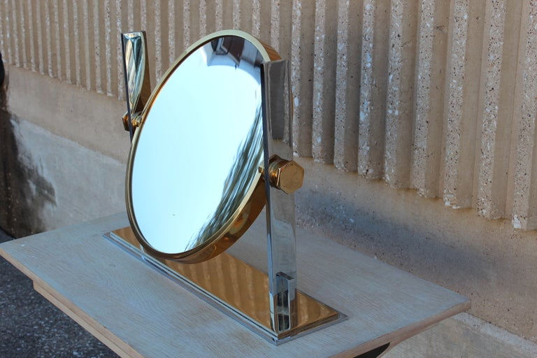 Large Table Top Mirror By Karl Springer 3