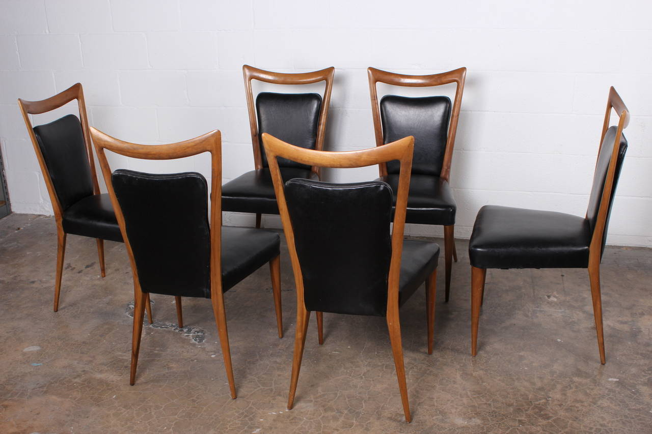 set of six dining chairs by melchiorre bega in good condition for sale in dallas - Set Of Six Dining Room Chairs