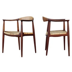 Pair of Early Teak Classic Chairs by Hans Wegner