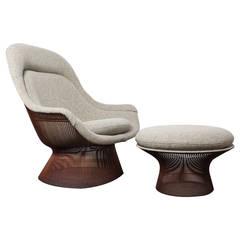 Warren Platner Copper Throne Chair and Ottoman