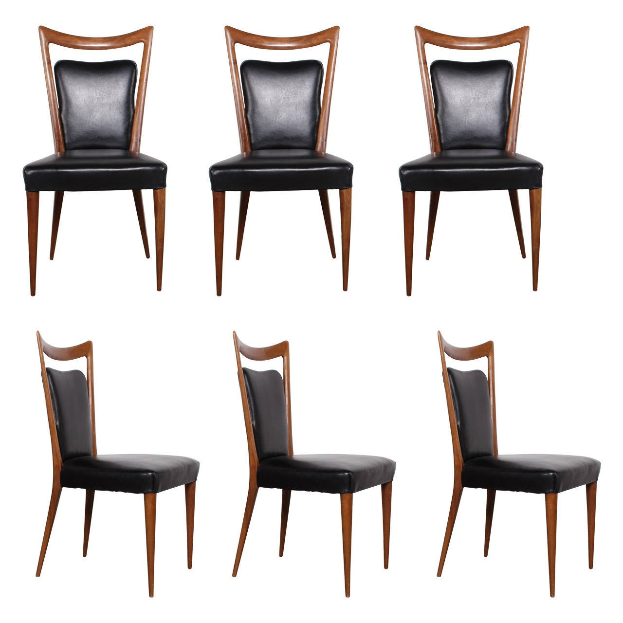 set of six dining chairs by melchiorre bega at 1stdibs