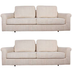 "Pair of ""Big Texan"" Settees by Edward Wormley for Dunbar"