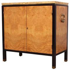 Rare Olive Burl Cabinet by Edward Wormley for Dunbar