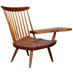 Single-Arm Lounge Chair by George Nakashima