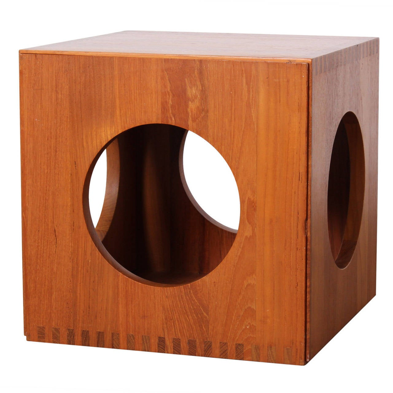 Cube Nesting Tables By Peter Hvidt For Richard Nissen At 1stdibs. Full resolution‎  image, nominally Width 1280 Height 1280 pixels, image with #290E08.