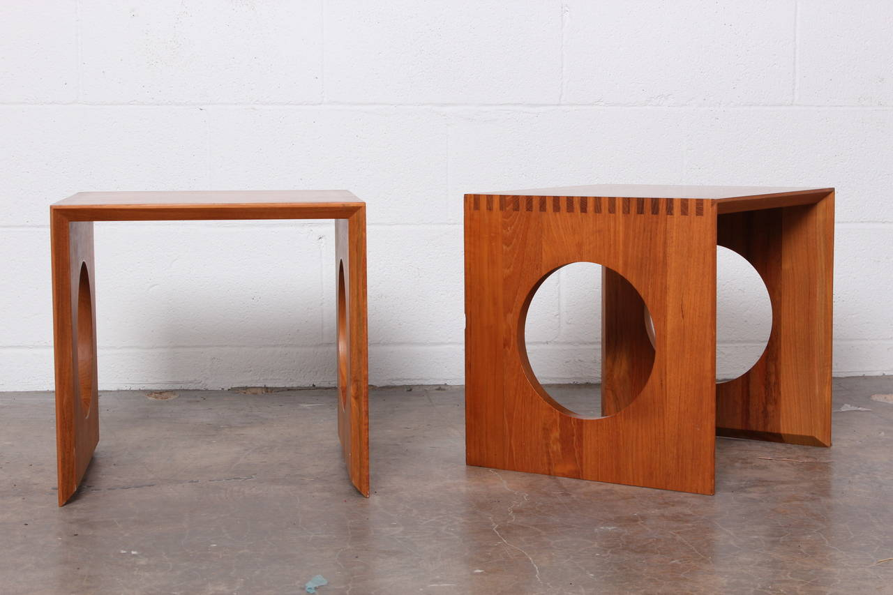 Cube Nesting Tables By Peter Hvidt For Richard Nissen At 1stdibs. Full resolution‎  image, nominally Width 1280 Height 853 pixels, image with #AD4F1E.