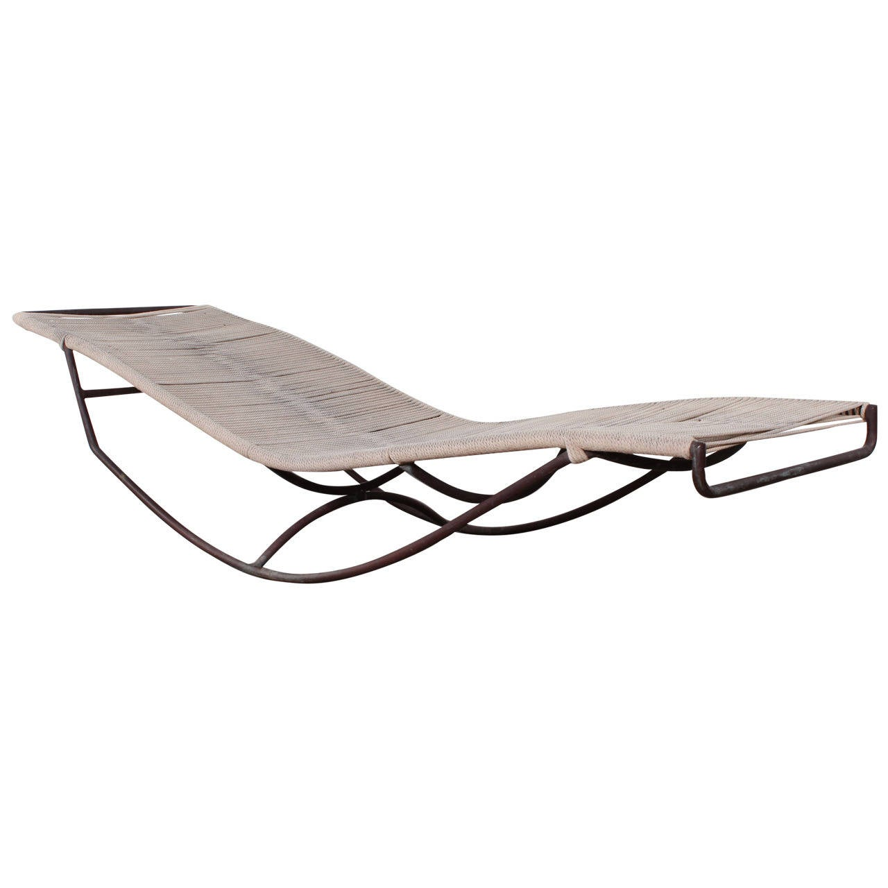 Bronze rocking waikiki chaise longue by walter lamb at for Bronze chaise lounge