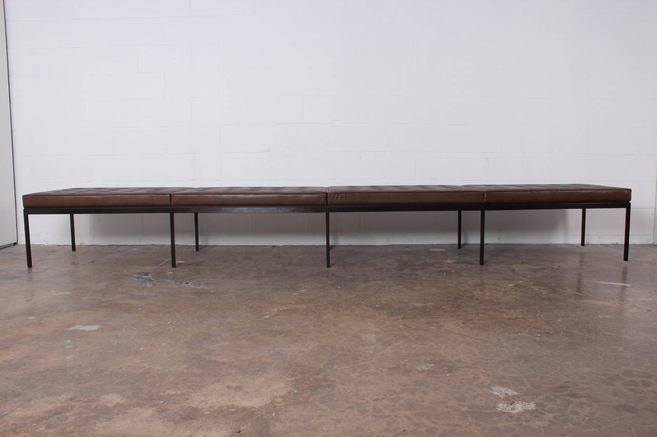 Bronze And Leather Museum Bench By Florence Knoll At 1stdibs