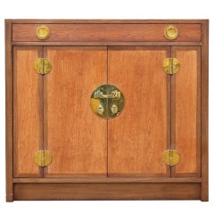 Walnut Bar Cabinet by Edward Wormley for Dunbar