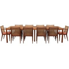 Large Dining Set by Edward Wormley for Dunbar