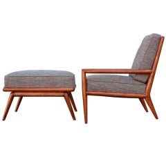 Lounge Chair and Ottoman by T.H. Robsjohn-Gibbings