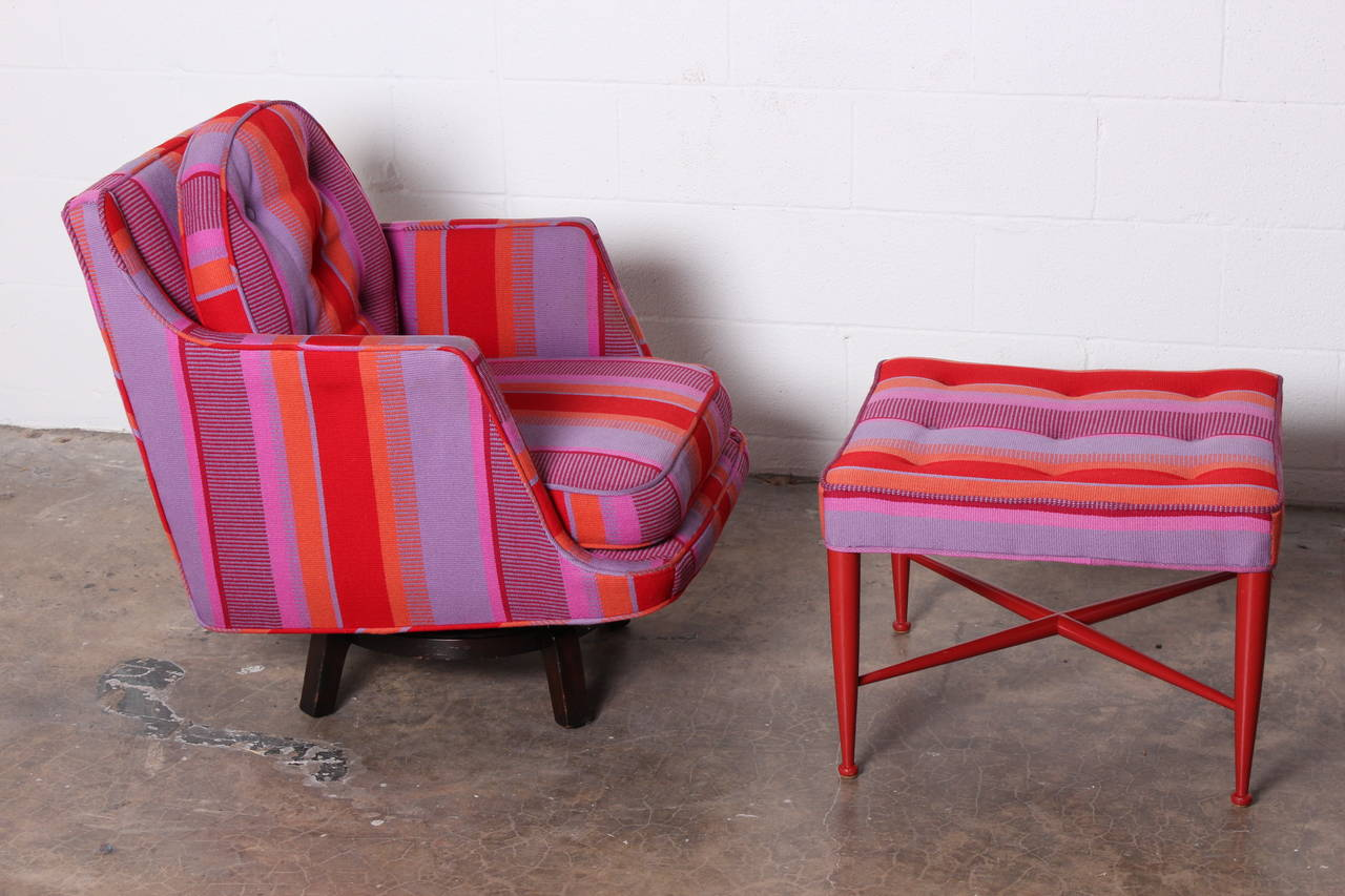 Swivel Lounge Chair by Edward Wormley for Dunbar For Sale 1