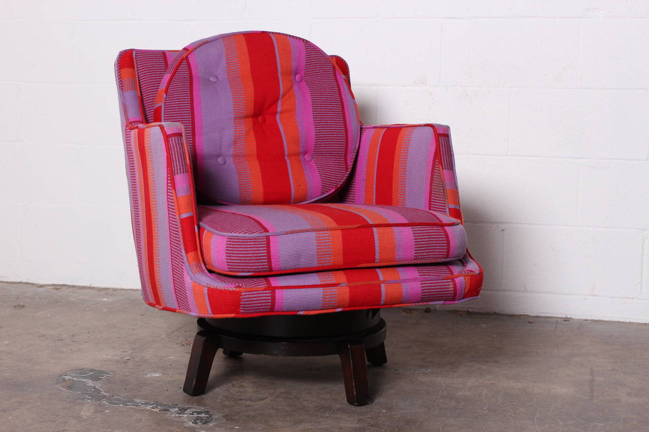 Swivel Lounge Chair by Edward Wormley for Dunbar For Sale 2