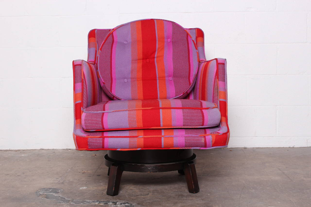 Swivel Lounge Chair by Edward Wormley for Dunbar For Sale 3