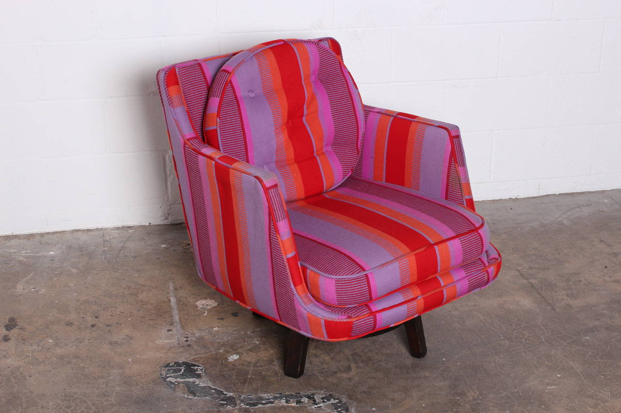 Swivel Lounge Chair by Edward Wormley for Dunbar For Sale 6