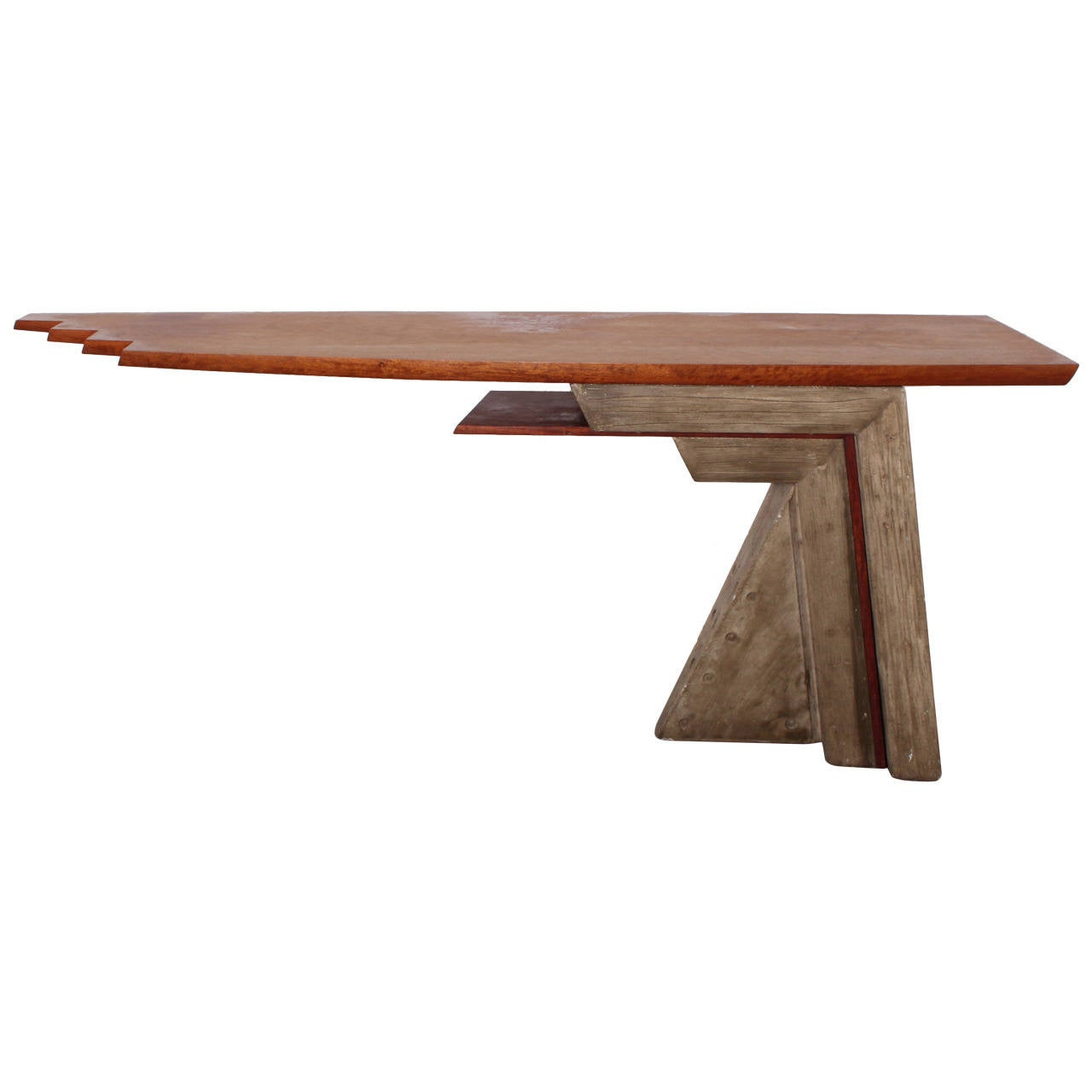 Architectural Concrete And Wood Console Table 1