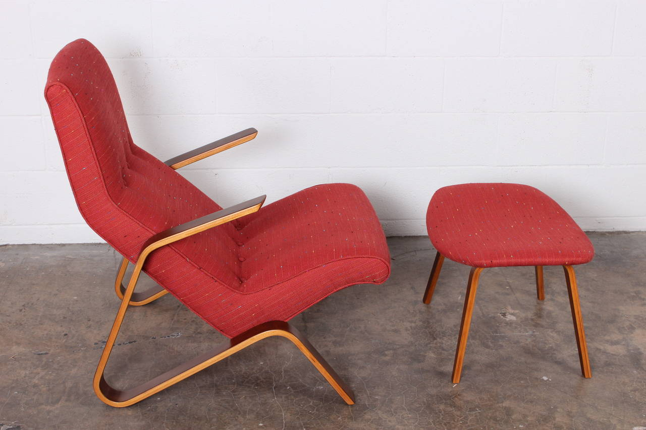 Mid-20th Century Grasshopper Chair and Ottoman by Eero Saarinen for Knoll