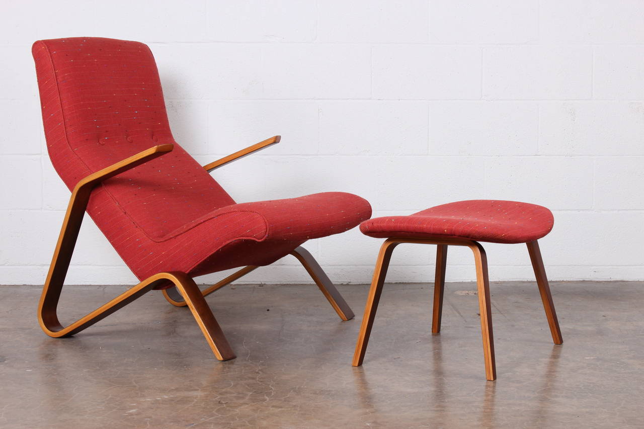 Grasshopper Chair and Ottoman by Eero Saarinen for Knoll 3