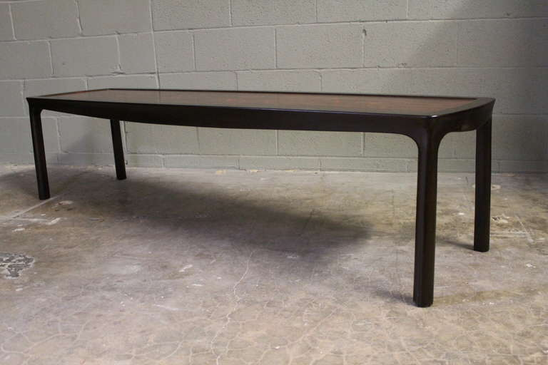 Rosewood Coffee Table by Edward Wormley for Dunbar For Sale 1