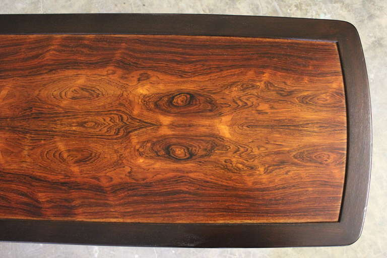 Rosewood Coffee Table by Edward Wormley for Dunbar For Sale 2