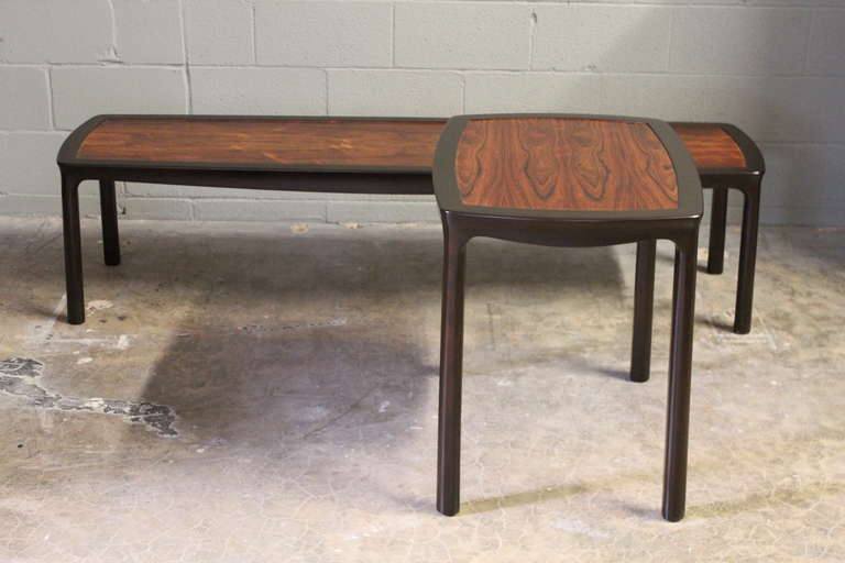 Rosewood Coffee Table by Edward Wormley for Dunbar For Sale 4