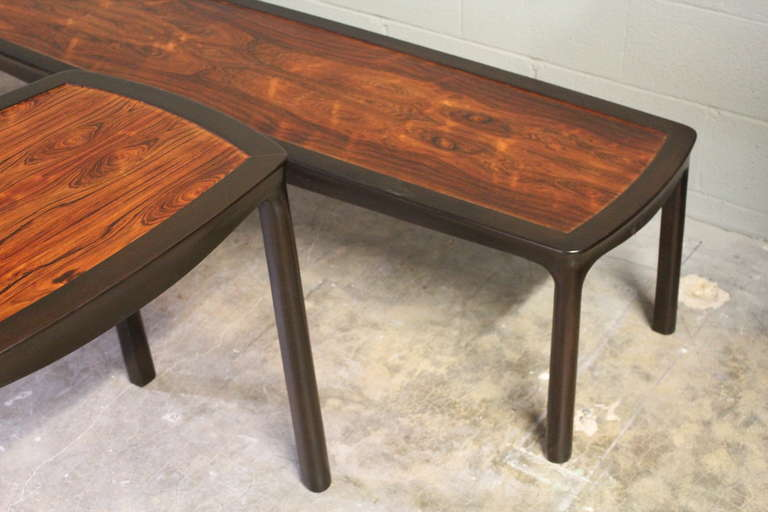 Rosewood Coffee Table by Edward Wormley for Dunbar For Sale 5