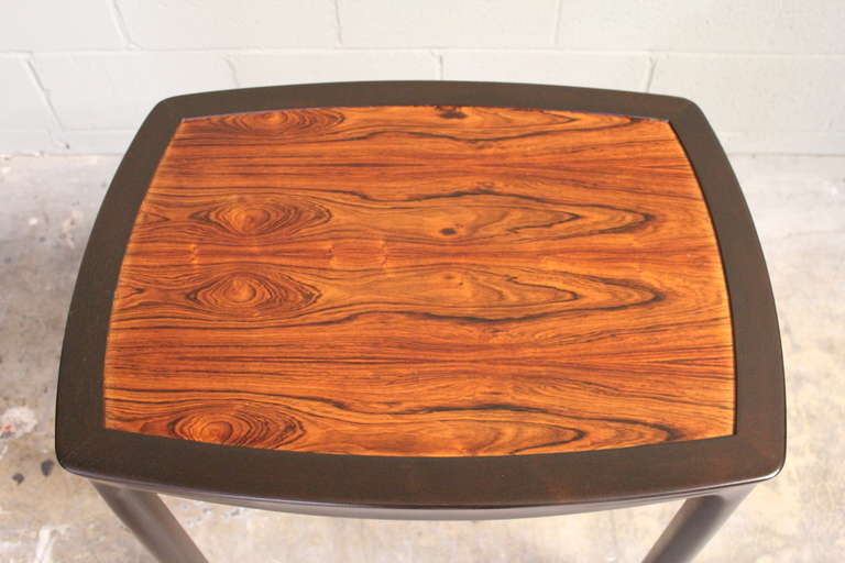 Rosewood Table by Edward Wormley for Dunbar For Sale 1