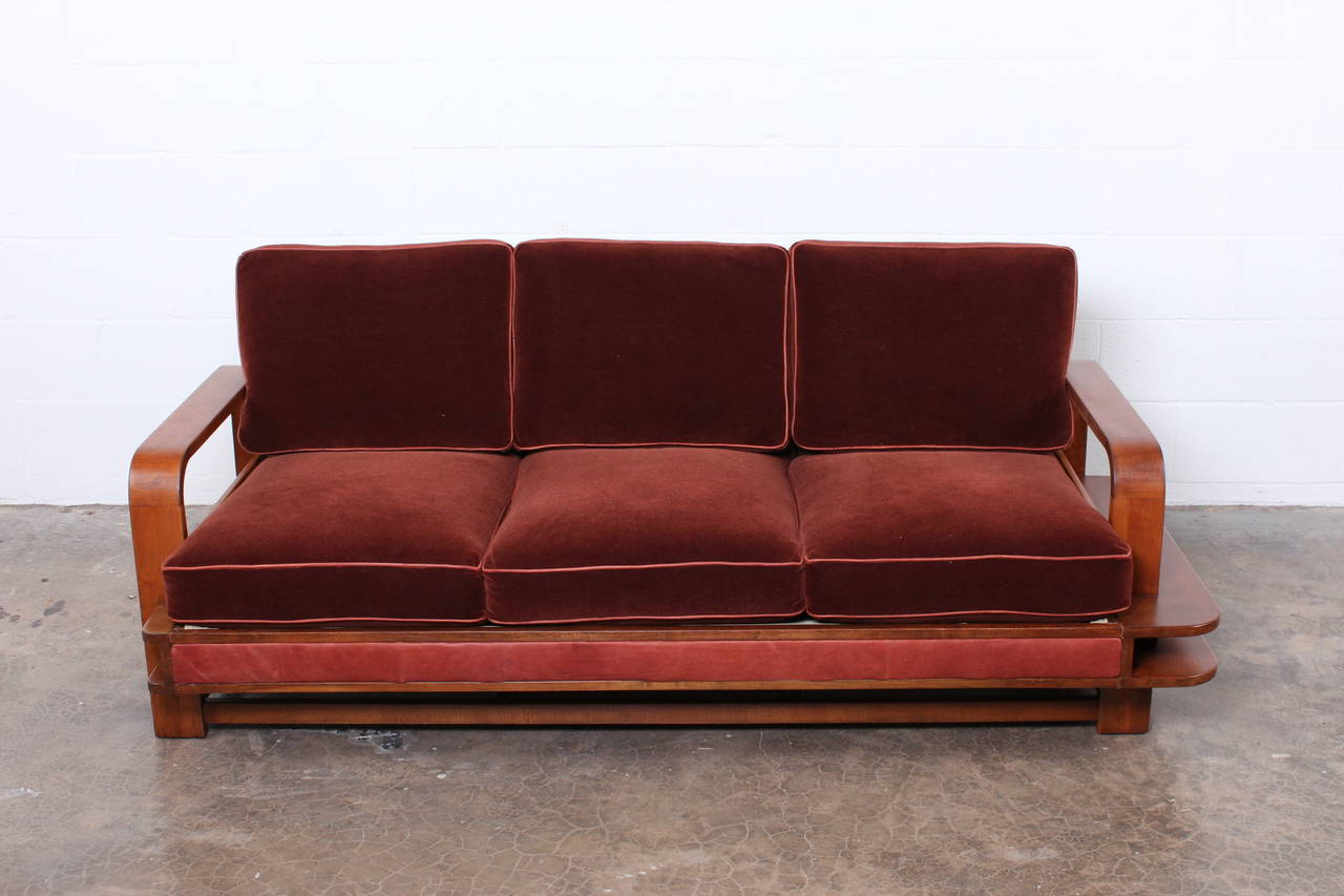 Rare Sofa Designed By Russel Wright For Conant Ball At 1stdibs