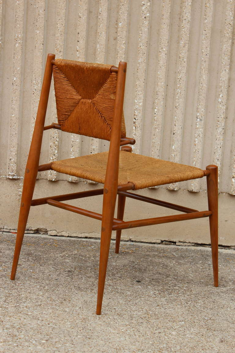 Sculptural Woven Rush Side Chair For Sale 1
