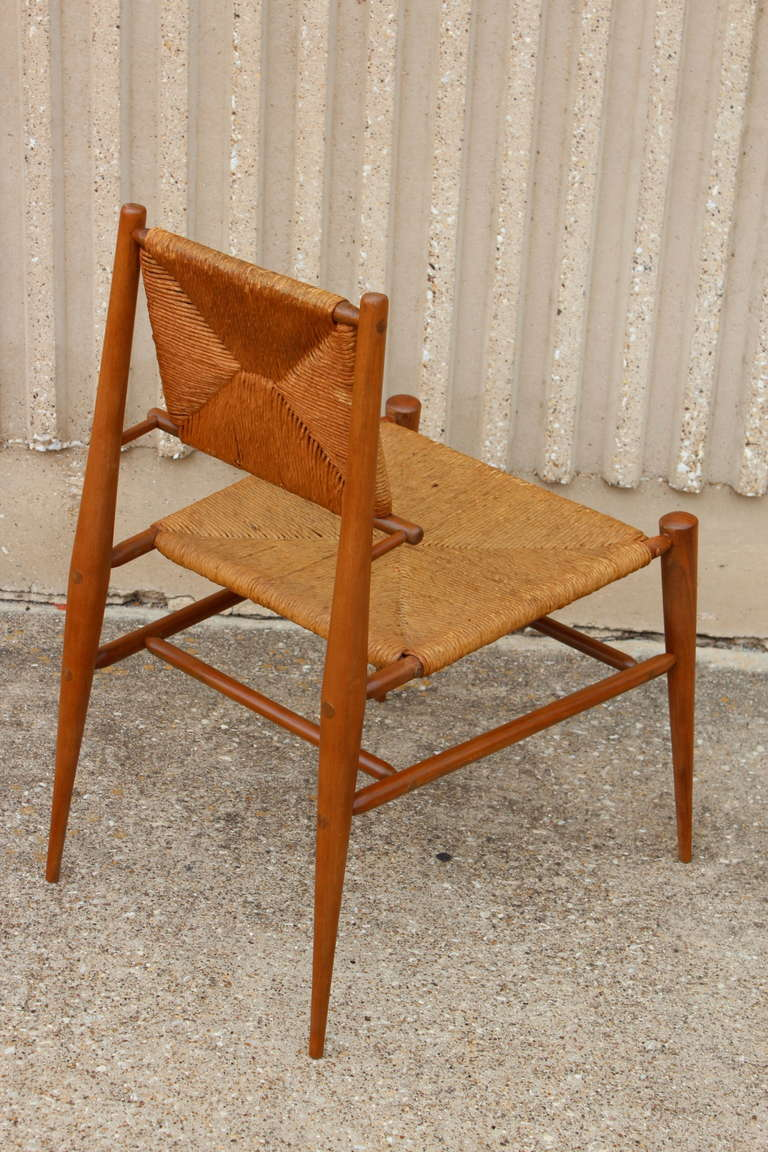Sculptural Woven Rush Side Chair For Sale 2