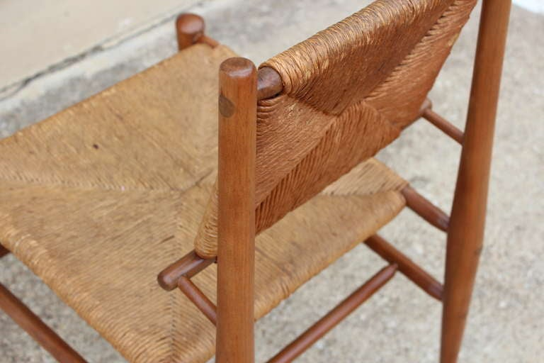 Sculptural Woven Rush Side Chair For Sale 3