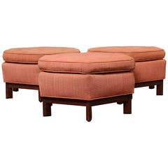 Hexagonal Ottomans by Frank Lloyd Wright for Henredon