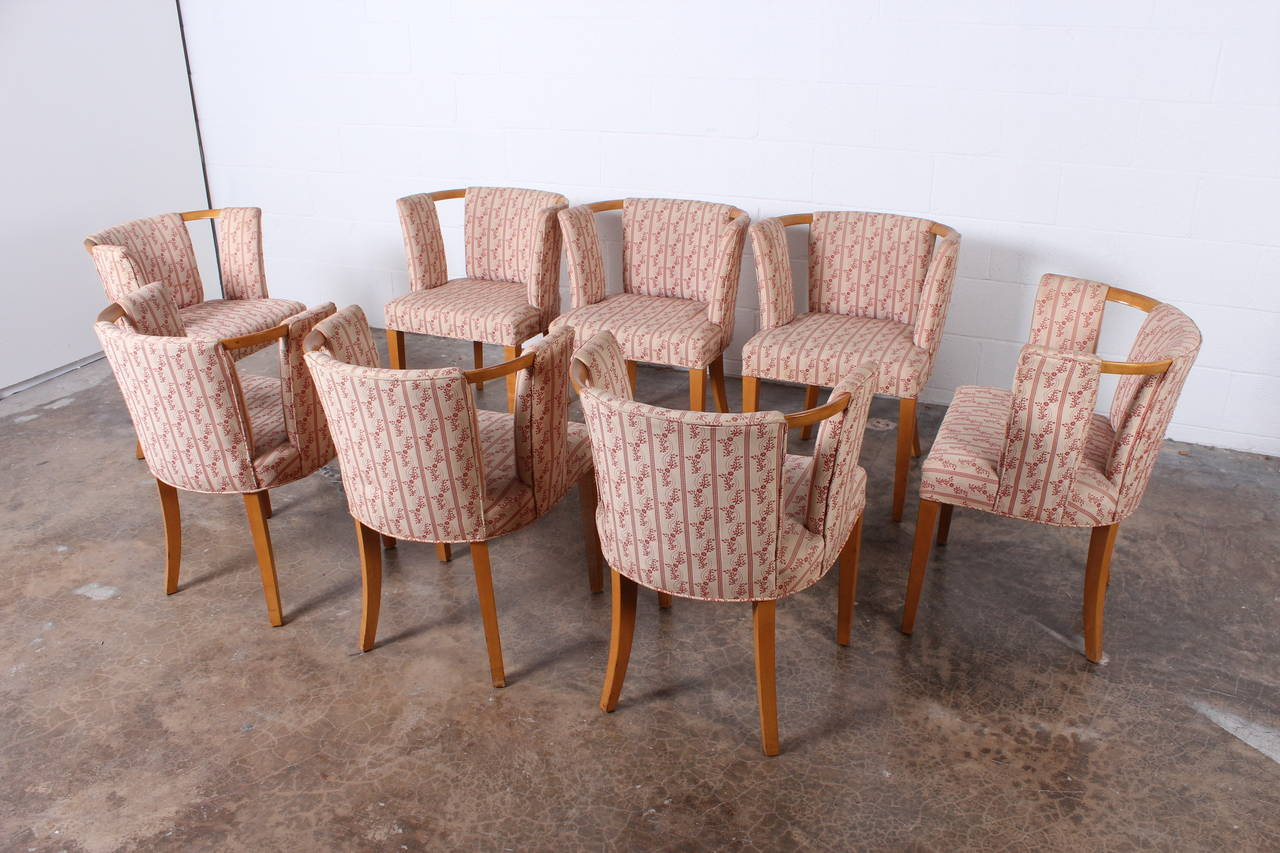 Set Of Eight Dining Chairs By Eliel Saarinen At 1stdibs