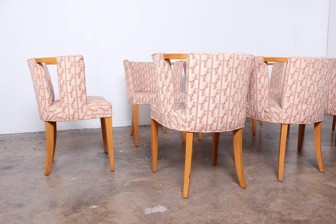 Set of eight dining chairs by eliel saarinen at 1stdibs for Eliel saarinen furniture