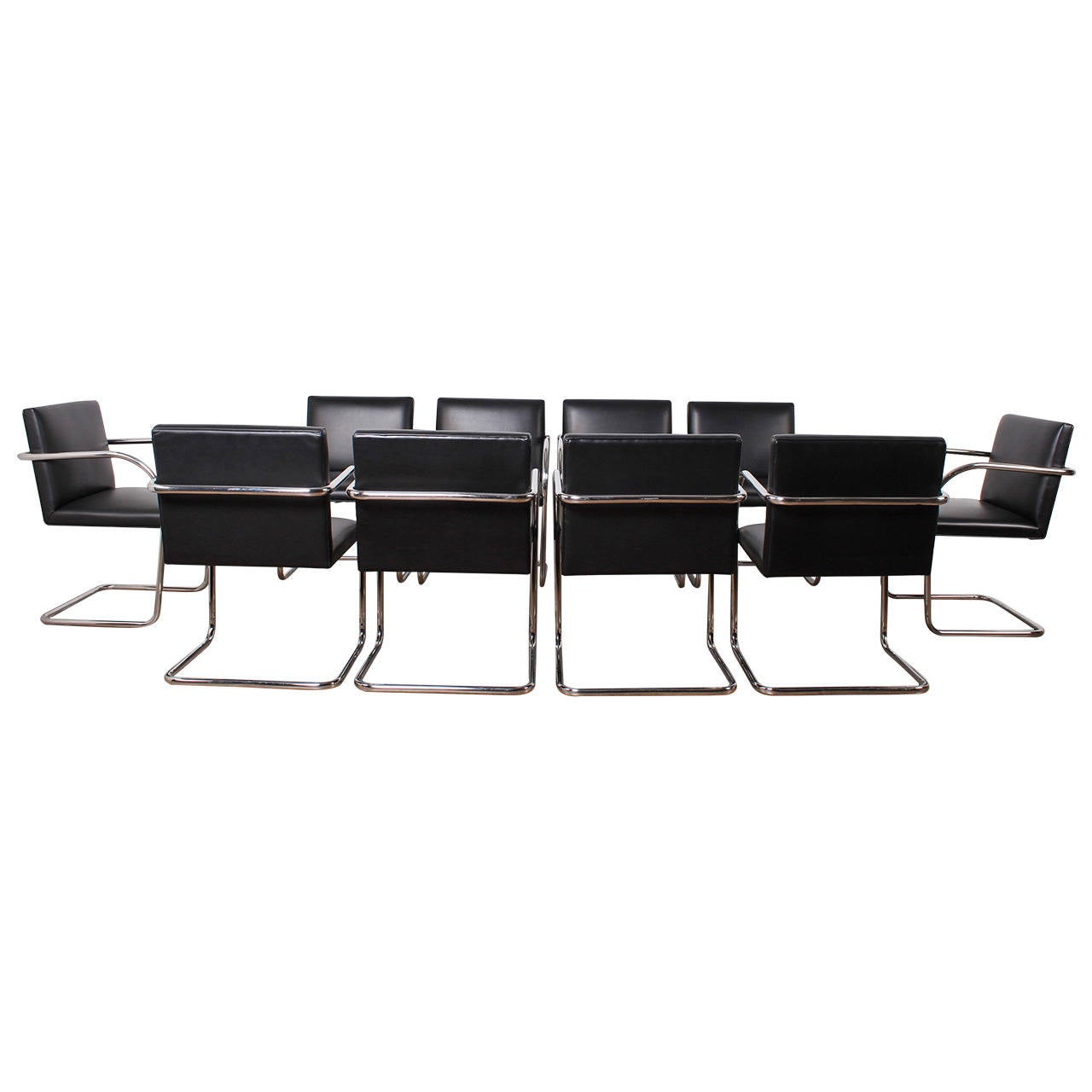 Brno chairs by mies van der rohe for knoll at 1stdibs for Van der rohe furniture