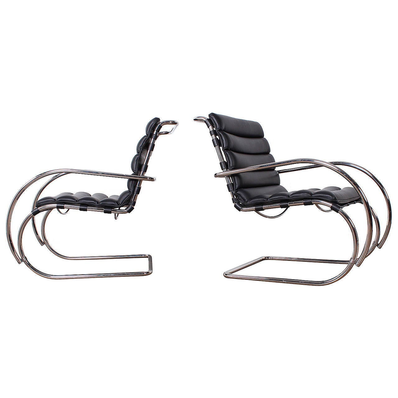 mies furniture. pair of mr lounge chairs by mies van der rohe for knoll furniture