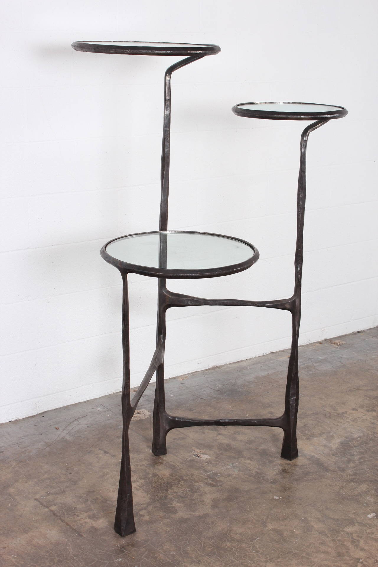 Hand Forged Iron And Glass Display At 1stdibs