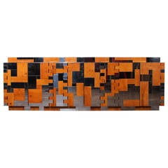 Large Cityscape Cabinet Designed by Paul Evans