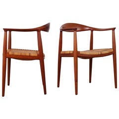 "Pair of Teak ""Classic"" Chairs by Hans Wegner"