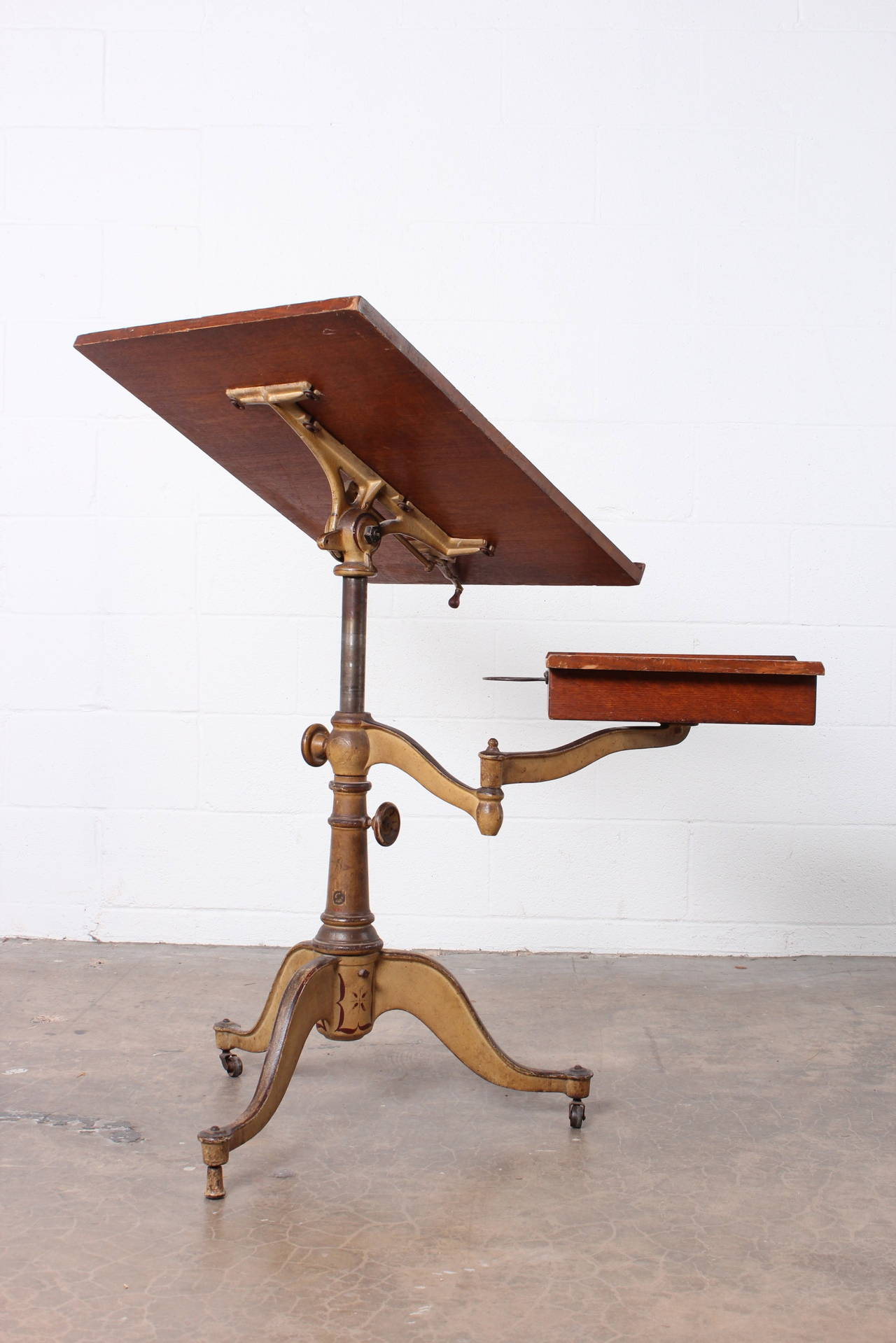 Victorian Cast Iron Artist Drafting Table At 1stdibs