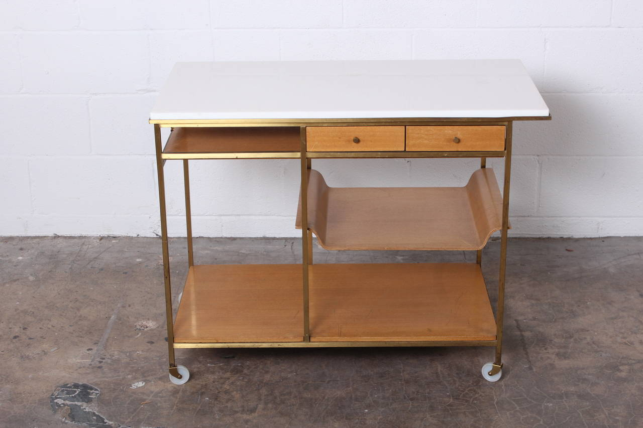 Mid-20th Century Bar Cart Designed by Paul McCobb
