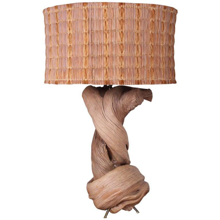 large twisted wood lamp for sale at 1stdibs. Black Bedroom Furniture Sets. Home Design Ideas