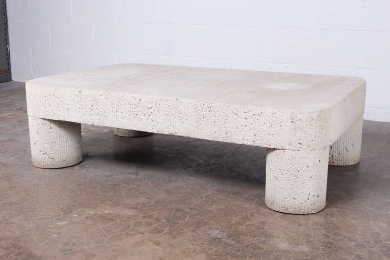 Large Cast Concrete Coffee Table at 1stdibs