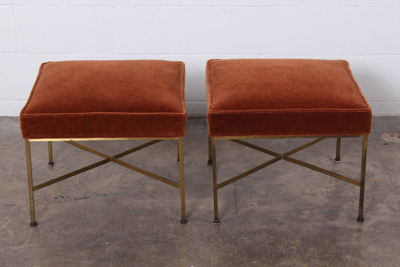 Pair Of Stools By Paul Mccobb For Calvin At 1stdibs