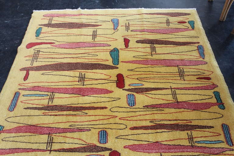 1950 S French Modernist Rug At 1stdibs