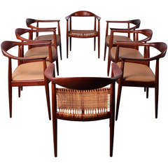 Set of Round Chairs by Hans Wegner