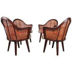 Set of Four Armchairs in the Style of Harvey Probber